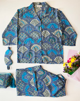 Blue Paisley 3/4 PJ Set (Limited stock!)