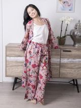 Cotton Pants - Bird Print Peach