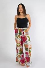 Cotton Pants - Samara White