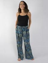 Cotton Pants - Blue Paisley