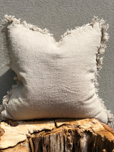 Handloomed/Rustic Linen Cushion Cover with Fringe