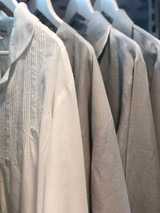 Grey Linen 3/4 PJ Set