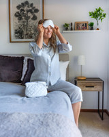 Grey Linen 3/4 PJ Set