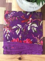 Bird Print Purple Scarf/Sarong MIN of 2