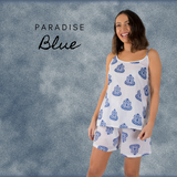 Paradise Blue Cami & Short Set