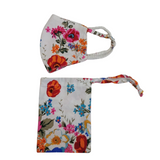 Poppy Print Face Mask with Pouch (Minimum of 5)
