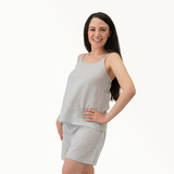 Grey Linen Cami & Short Set (Pack of 2 sets)