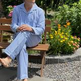 Blue Stripe Men's PJ Set