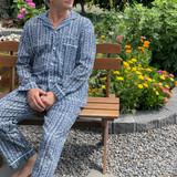 Indigo Stripe Men's PJ Set