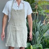 Natural Handloomed Linen Apron