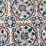 Blue Tile Cotton Pants