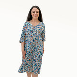 Blue Tile Kaftan