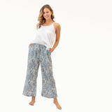 Blue Harmony Cotton Pants