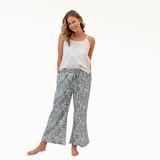 Blue Harmony Cotton Pants