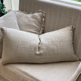 Natural Handloomed Linen Long Cushion Cover