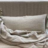 Natural Handloomed Linen Long Cushion Cover
