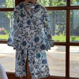 Blue & White Floral Girl's PJ Set (Pack of 4)