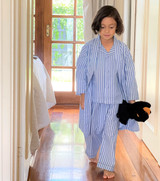 Blue Stripe Child Dressing Gown/Kimono (Pack of 4)