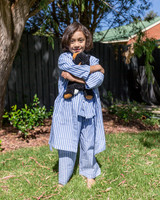 Blue Stripe Child Dressing Gown/Kimono (Pack of 4)