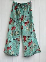 Bulbul Bird Mint Cotton Pants