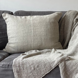 Cushion Cover - Natural Handloomed with Zipper Closure - 50 x 60 cm