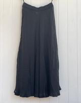 Gauze Linen Skirt - in Black