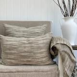 Oriel Ombre Linen Cushion Cover - Natural & White