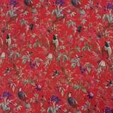 Bird Print Red Skirt