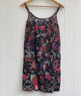 Black Bird Print Slip Dress