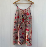 Bird Print Grey Slip Dress
