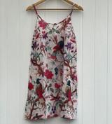 Bird Print White Slip Dress