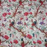 Bird Print White Skirt