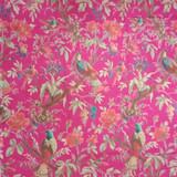 Bird Print Hot Pink Skirt with Lining