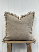 Briar Reversible Frayed Linen Cushion Cover 50 x 50 cm