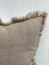 Briar Reversible Frayed Linen Cushion Cover 40 x 120 cm