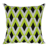 Diamond Canvas Cushion Lime, Black and White (not filled)
