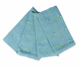 Hibiscus Blue and Green Napkins Set of 4