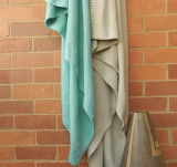 Knitted Turquoise Throw
