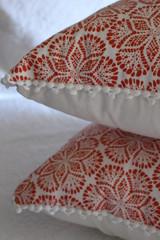 Cora Cushion Cover Coral