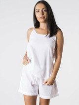 Lulu White with Lace Short PJ Set Pack of 2 Sets