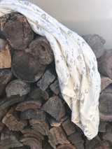Scritto Pigment Printed Linen Throw