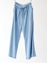 Cotton Pants - Dotty Dusky Blue