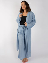 Dotty Dusty Blue Kimono