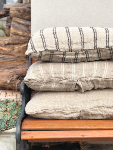 Handloomed/Rustic Linen Natural Cushion Cover 40X60cm