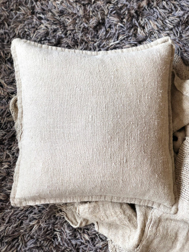 Handloomed/Rustic Linen Cushion Cover