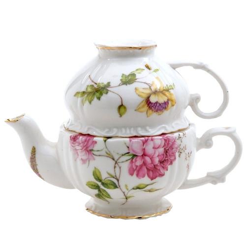 Dahlia Porcelain Tea For One Set