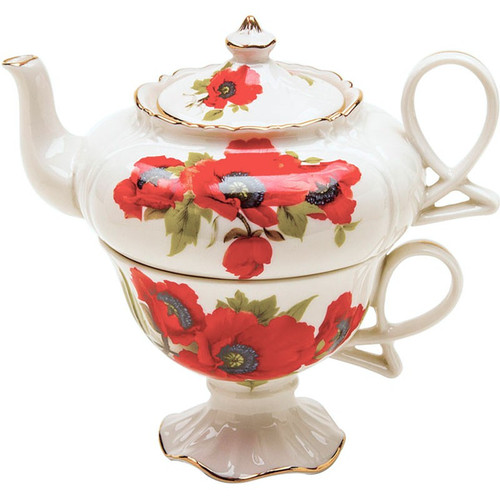 Poppy 3 Piece Tea for One Set