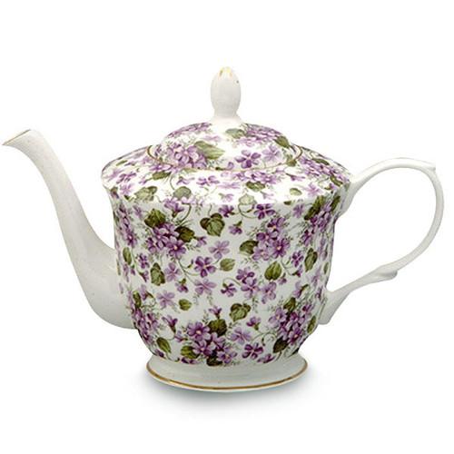 Elegant Violets Complete Tea Set