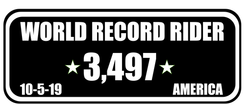 World Record Rider Sticker