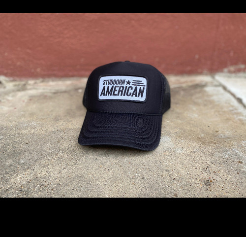 Stubborn American Patch Hat CURVED Bill
